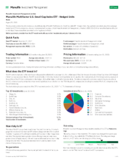 Manulife Multifactor U.S. Small Cap Index ETF - Hedged Units