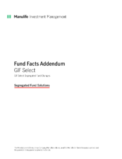 GIF Select Fund Facts Addendum
