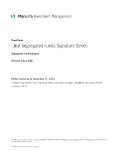 Ideal Segregated Funds Signature Series Fund facts