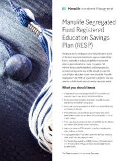 MK2754E - Manulife Segregated Fund RESP Information Sheet