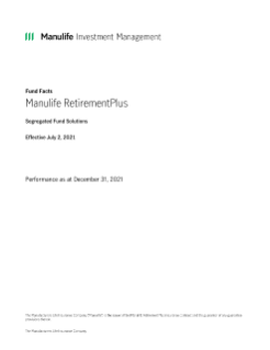 Manulife RetirementPlus Fund Facts
