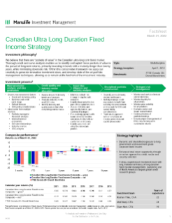 Canadian Ultra Long Duration Fixed Income fact sheet