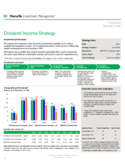 Dividend Income Fact Sheet