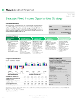 Strategic Fixed Income Opportunities Fact Sheet